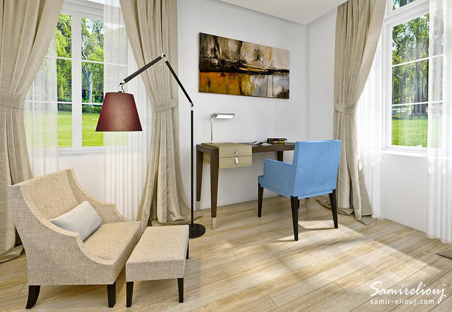 animation-3D-architecture-3D-perspective-3D-cafeteria-air-de-formation, fabricant de mobiliers, fauteuil, mobillier