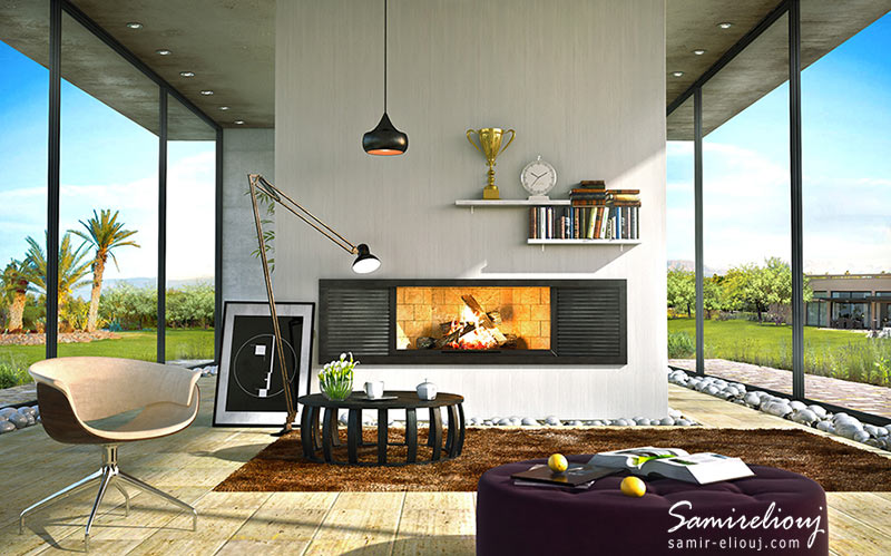 Horizon Fire place #03 ARCHITECTURE
