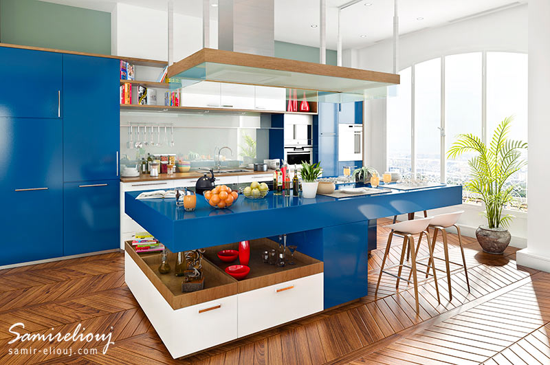 IKEA Blue Kitchen Concept