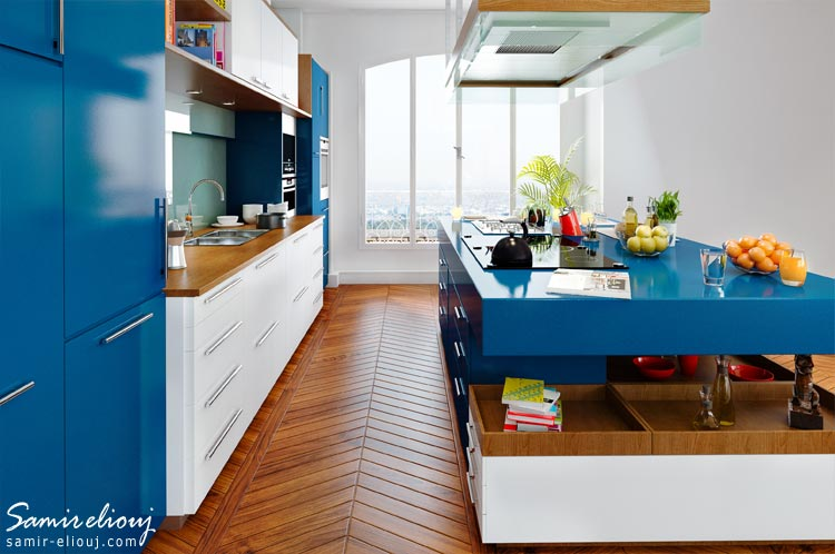 Ikea blue kitchen concept for Ikea visualisation 3d
