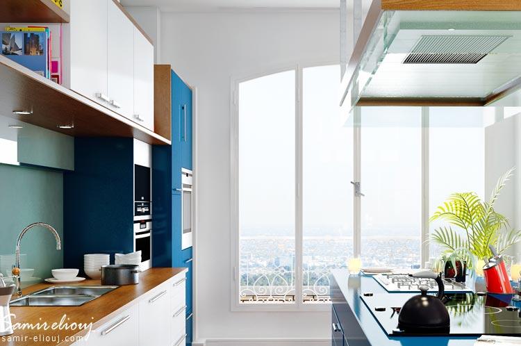 Cuisine moderne 3d meuble cuisine cuisine 3d paris for Cuisine 3d concept dole