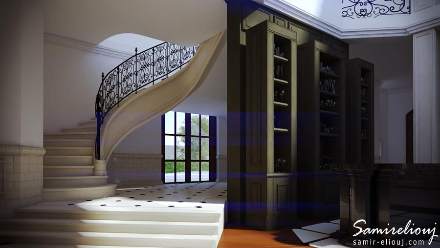 le grand salon architecture 3d villa rabat ext rieur. Black Bedroom Furniture Sets. Home Design Ideas