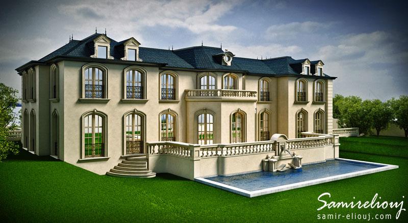 Perspective 3d Plan De Villa Graphiste 3d Paris Henri I 75