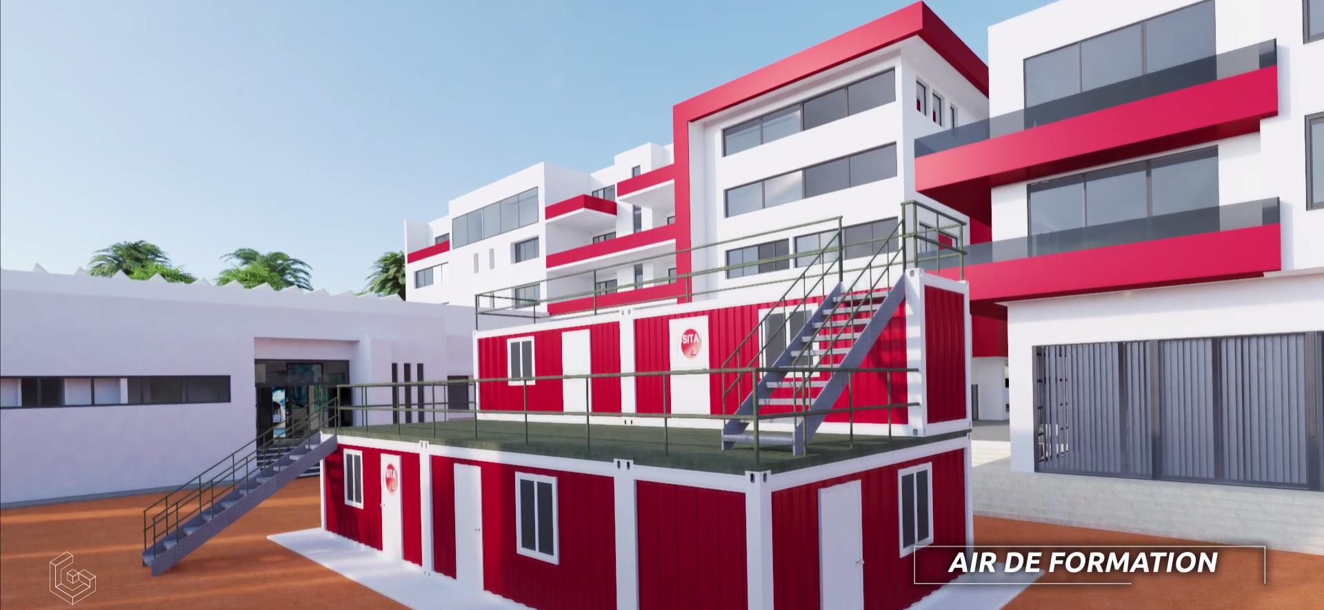 Animation 3D Centre de Formation Pétrolière d'Agadir