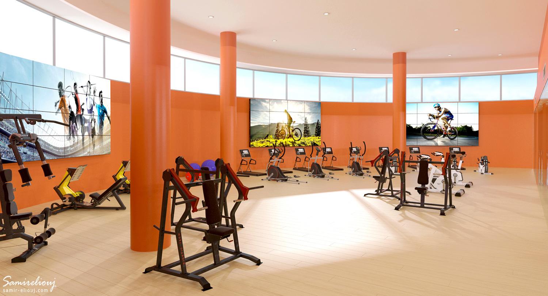 Visite virtuelle 360 immobilier de salle de sport 3d for Agence architecture suisse